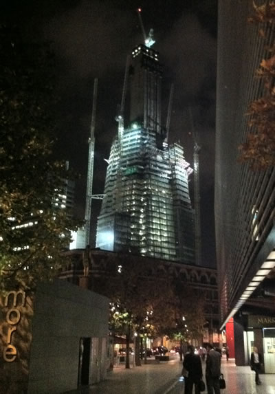 The Shard continues to grow